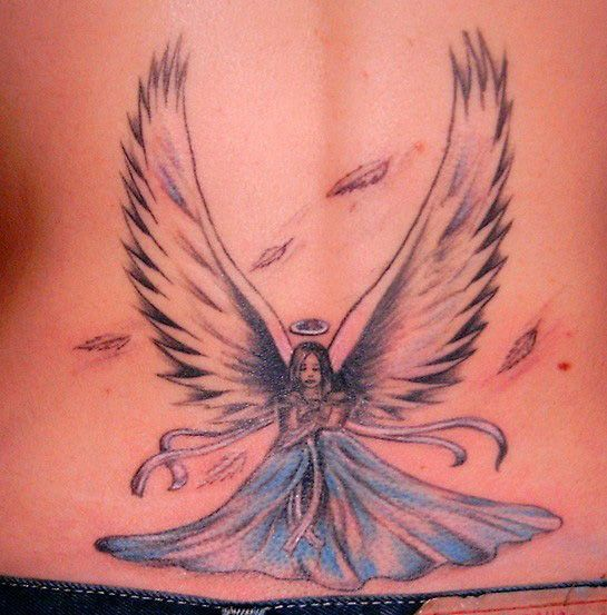 Latest World News: Angel Tattoos Designs For Girls
