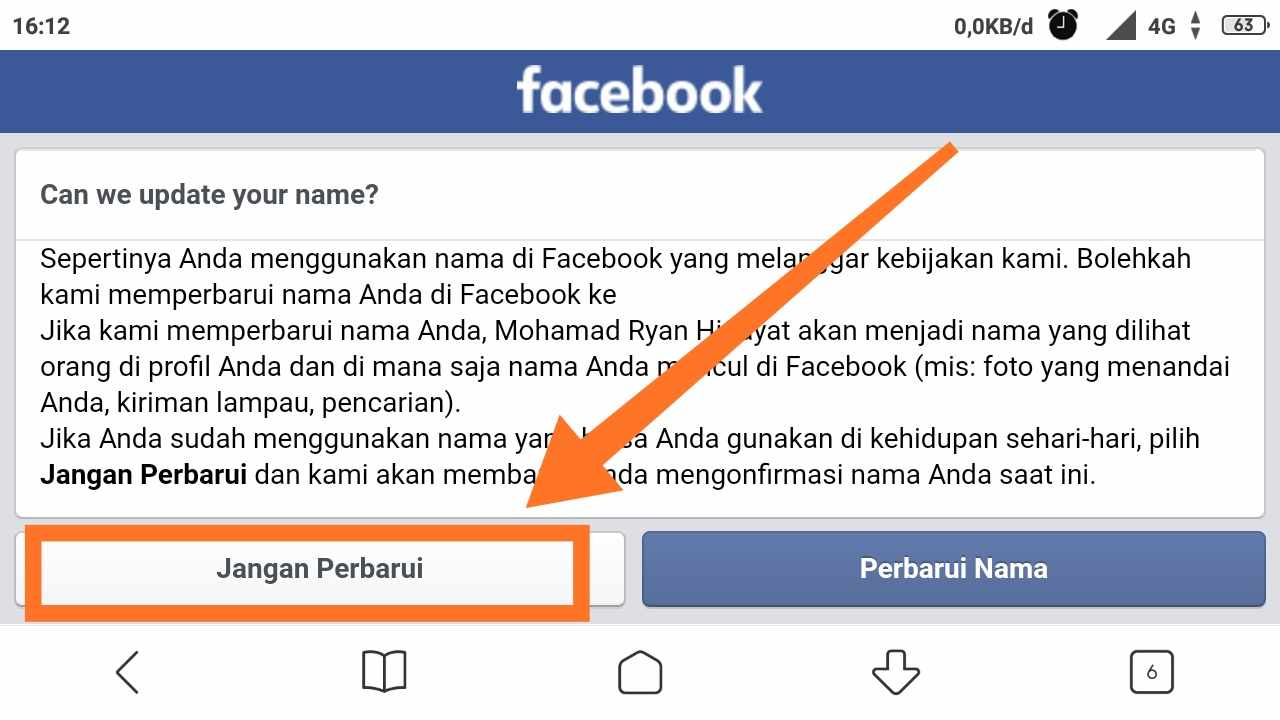 Cara MENGGANTI nama FB sesuka hati