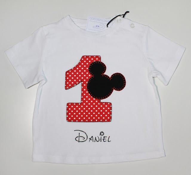 camiseta de primer cumpleaños mickey mouse