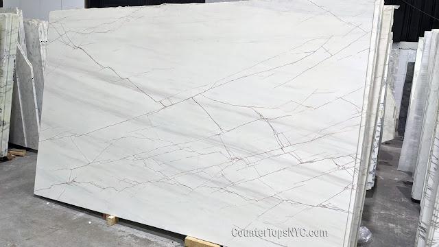 Sahara Blanc Marble Slabs NYC