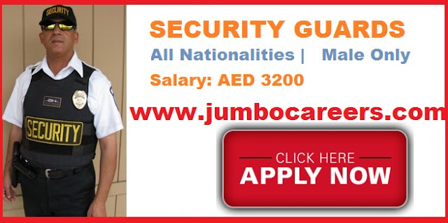 Salary for Security guards in Dubai 2018.