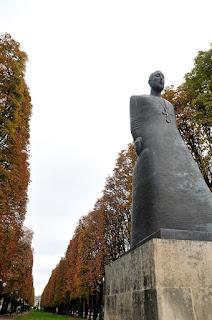 The memorial statue of Komitas in Paris