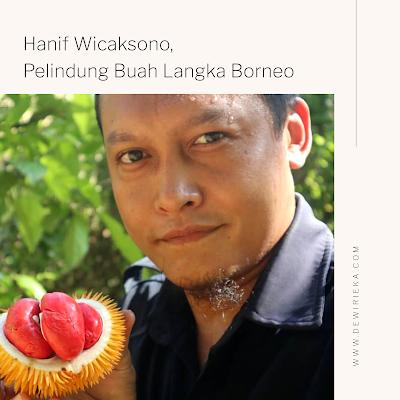 Hanif Wicaksono, Pelindung Buah-Buahan Langka Khas Borneo Add caption