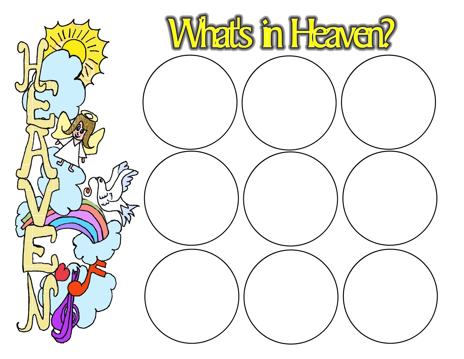 Children S Gems In My Treasure Box What S In Heaven Sticker Sheet