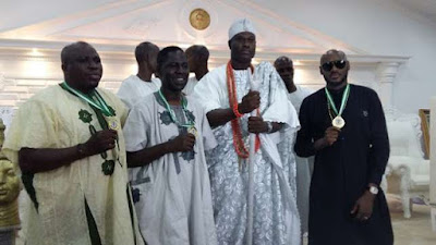 Oba Adeyeye Enitan Ogunwusi, the Ooni of Ife  and 2Face Idibia 777