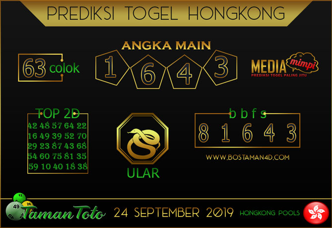 Prediksi Togel HONGKONG TAMAN TOTO 24 SEPTEMBER 2019
