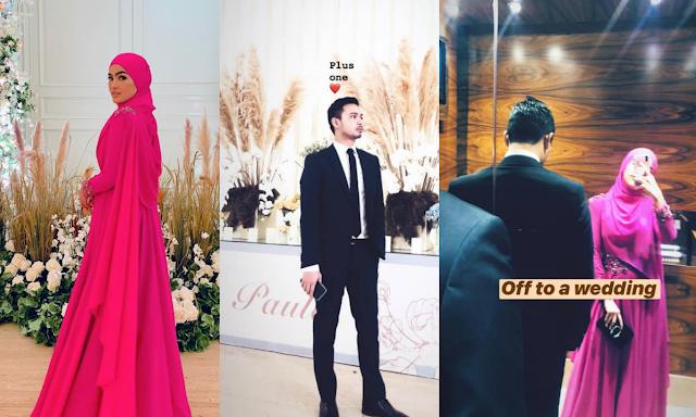 Elfira Loy Hadir Ke Majlis Perkahwinan Baim Wong Dengan Tunang