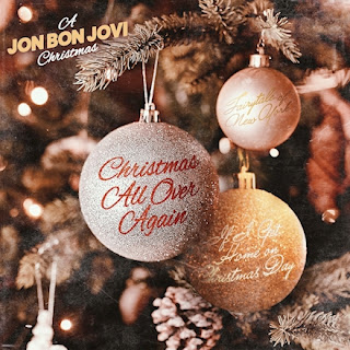 A Jon Bon Jovi Christmas cover art, featuring a Christmas tree and baubles.