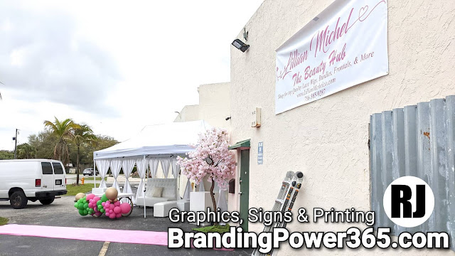 Graphics, Signs, Printing and Installation for Lillian Michel's The Beauty Bar in Ives Estates (BrandingPower365.com)