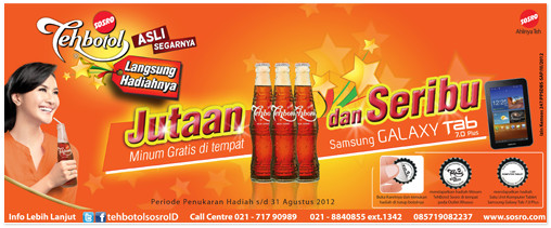 Distributor Sosro Pemenang Consumer Promo Jutaan Minum Gratis Teh