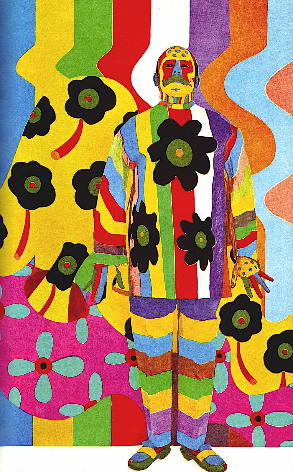 Ito Josue, 1967 multicolor man in a painting, a color photograph
