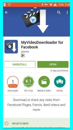 how to download video from facebook through android