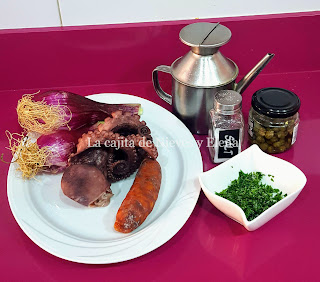 Ingredientes Pulpo con chorizo