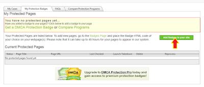 Cara mudah Mendaftarkan Blog ke DMCA Protection Untuk Melindungi Konten dari Pencurian