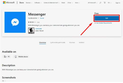 Download Facebook Messenger for Windows New 2019