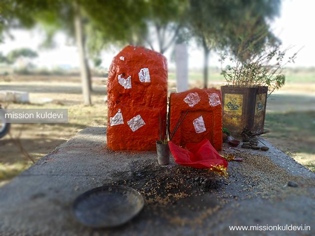 Sati statue inKhalkali/ Khalkay / Khalkai Mata temple Lahri ka Bas Dausa