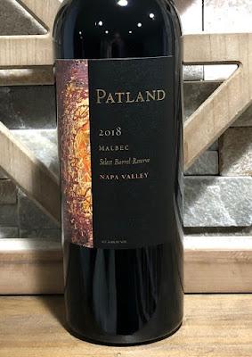 2018 Patland Vineyards Select Barrel Reserve Malbec label