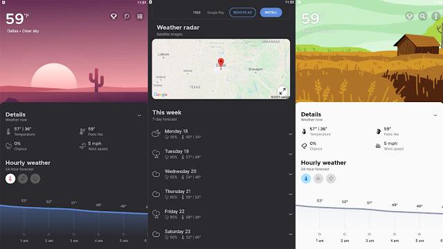 تحميل تطبيق overdrop animated weather widgets التطبيق الخاص بالطقس لهواتف الأندرويد