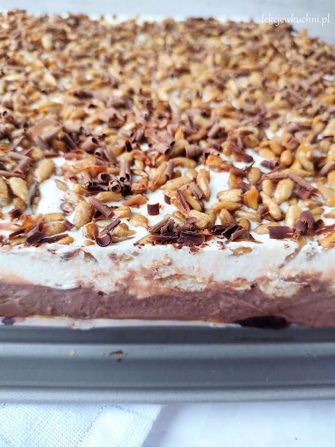 Ciasto Casablanca z kajmakiem bez pieczenia przepis