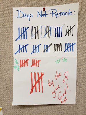 Tally of days we have met in-person and signed 'By the Grace of God! - BMc'