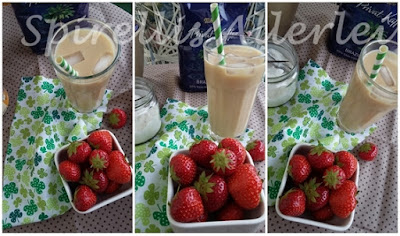 Strawberrys for decoration cold brew coffee