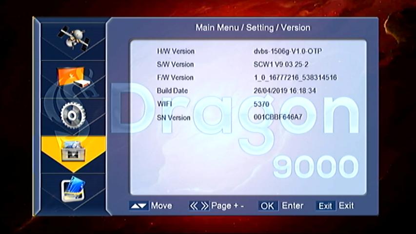 1506G 4M WIFI HD RECEIVER SOFTWARE XTREAM IPTV OPTION | DRAGON 9000 HD RECEIVER SOFTWARE