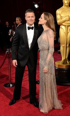 Oscars 2014 Brad Pitt Angelia Jolie