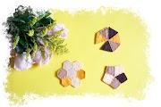 Posavasos de fieltro - Figuras geométricas