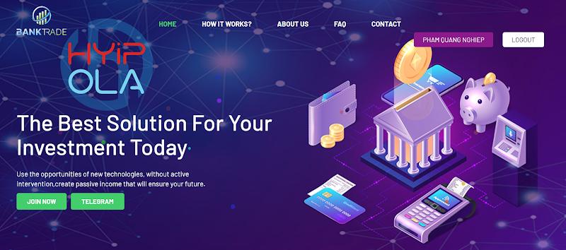 [SCAM] Review Banktrade Capital - Dự án đầu tư lãi từ 1% hằng ngày mãi mãi