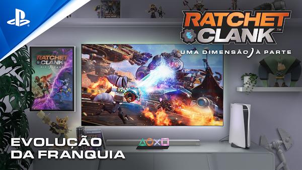 Novo trailer revela a evolução da franquia Ratchet & Clank ao longo dos anos