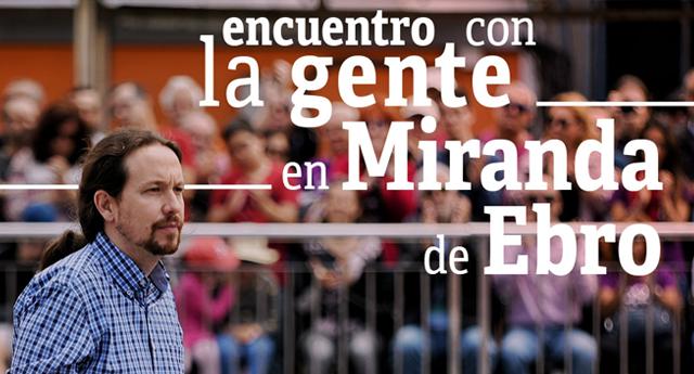Pablo Iglesias visitará Miranda de Ebro y Valladolid