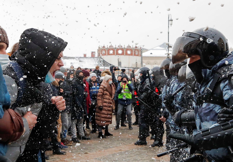 Manifestaciones en Rusia en reclamo de la liberación de Alexei Navalny: mas de 4.000 detenidos
