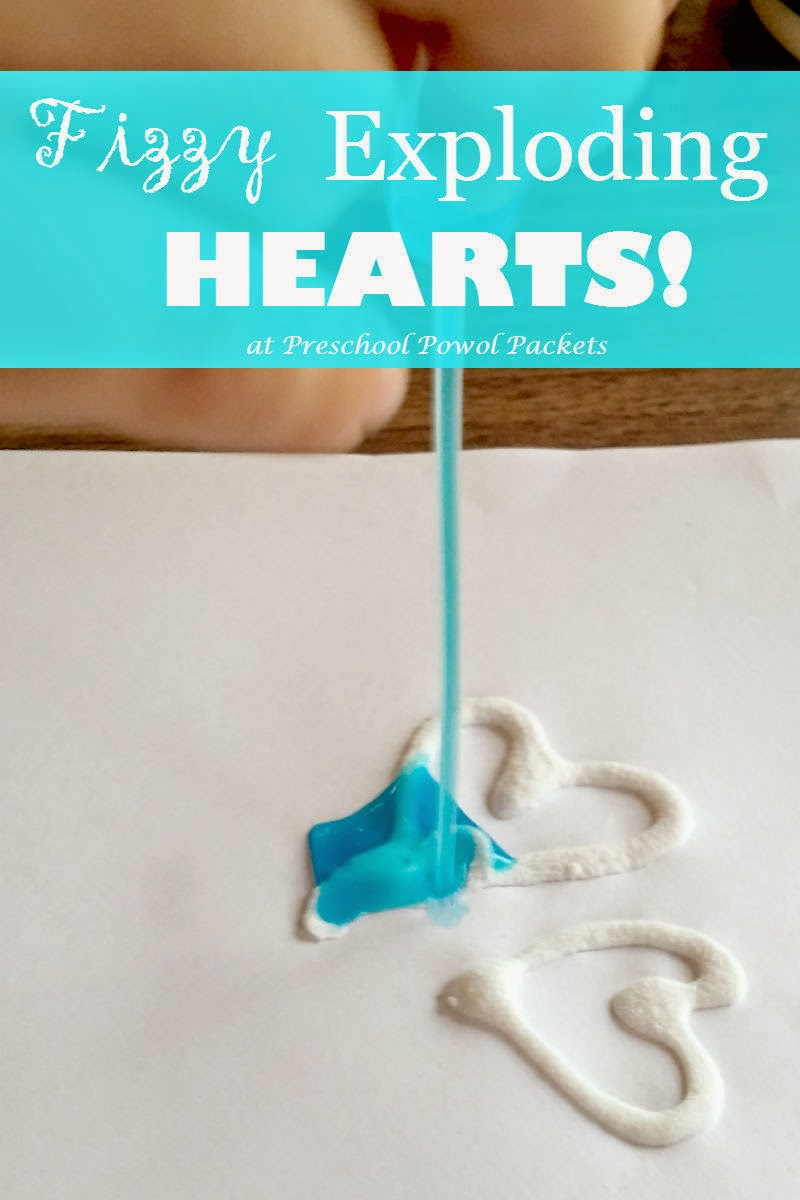 Valentines Science Experiment: Fizzy Exploding Hearts