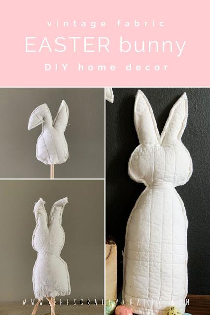 Pinterest Pin - Easter Bunny DIY home decor