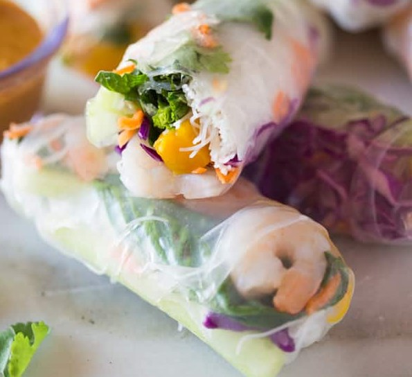FRESH SPRING ROLLS #appetizers #lunch