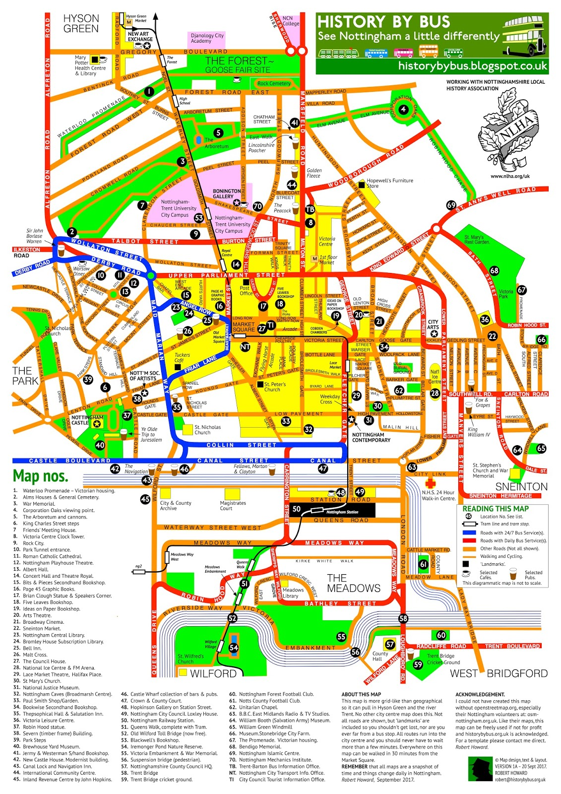 BeestonWeek Nottingham City Centre Pocket Map