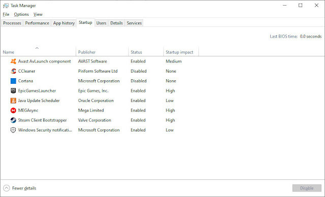 Task Menager Optimize Windows for Gaming