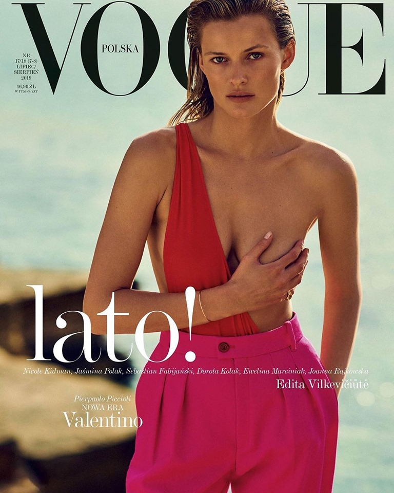 Edita Vilkeviciute for Vogue Polska July/August 2019
