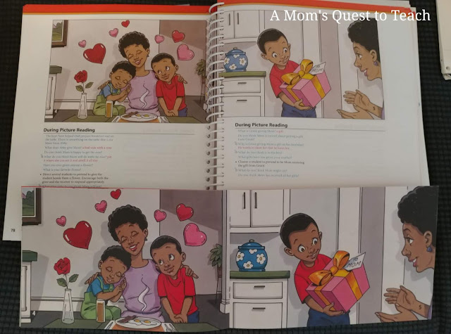 page from Teacher's Edition and children's book