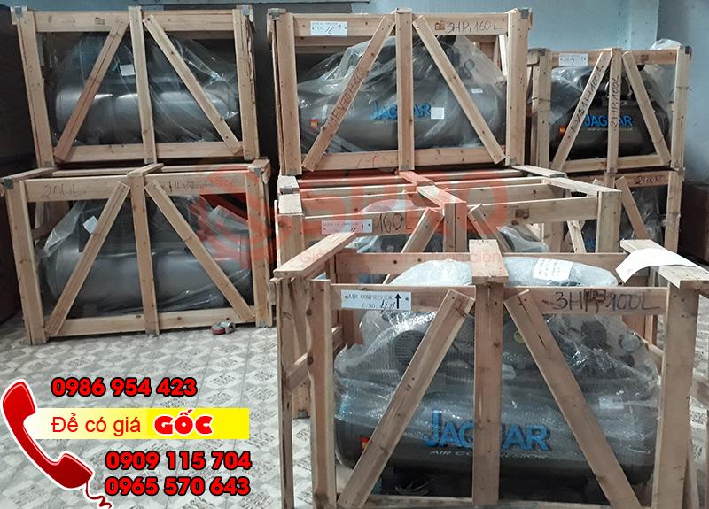 Máy bơm hơi khí nén giá rẻ áp lực 12.5 bar, bình chứa 500L