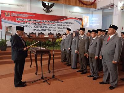 pelantikan DPRD Kabupaten Pekalongan