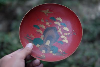 古民家カフェ・ひとつ石 鶴と亀の漆器