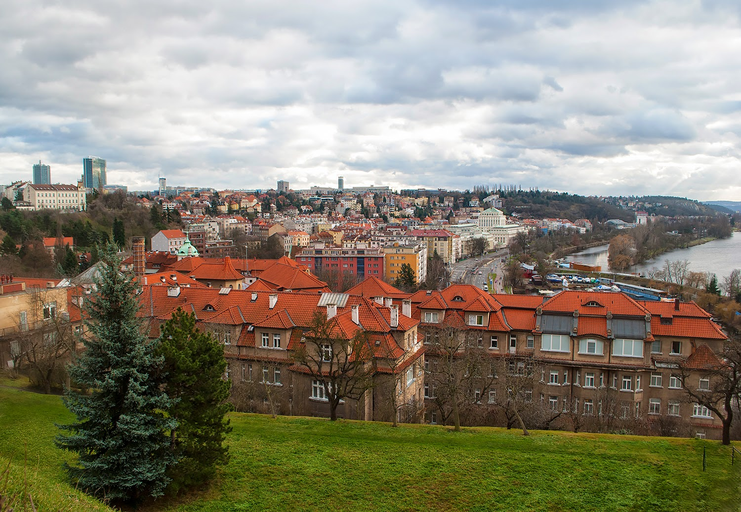 Panoramic Views of Prague, Czech Republic Vysehrad