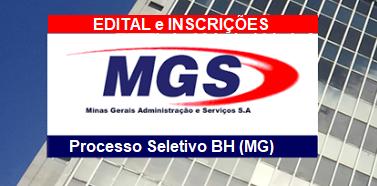 Edital de Processo Seletivo Público Simplificado Inscrições abertas MGS