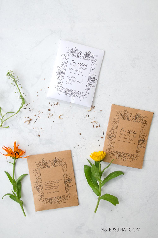 wildflower seed packet printable