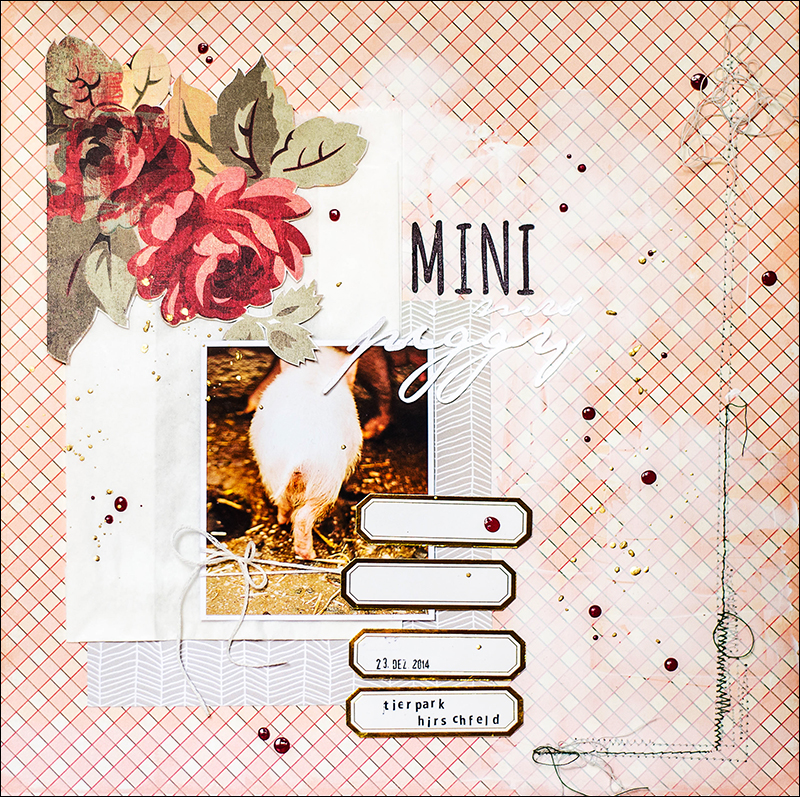 Stephanie Berger - Scrapbooking Layout - MiniMrsPiggy