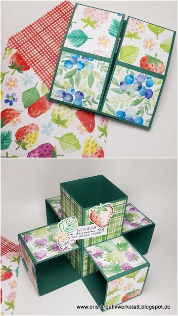 """""""Fruchtige"""" 5-Cubes-Karte und Zauberkarte vom letzen Online-Team-Basteltreffen Stampin' Up! www.eris-kreativwerkstatt.blogspot.de"""