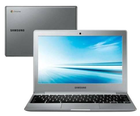 O notebook Samsung Chromebook oferece tela em HD e sistema operacional do Google