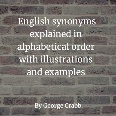 English synonyms explained in alphabetical order