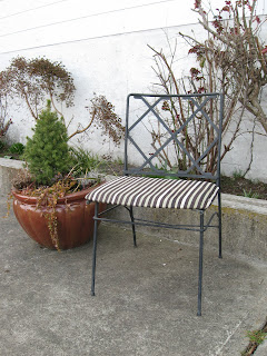 Time to Recover Antique Garden Furniture